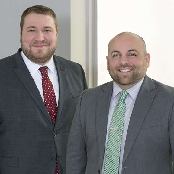 "John Higgins and Doug Bitner are attorneys with Katz Korin Cunningham in Indianapolis. They have been designated as ""rising stars"" for the 2020 Super Lawyers recognition program."