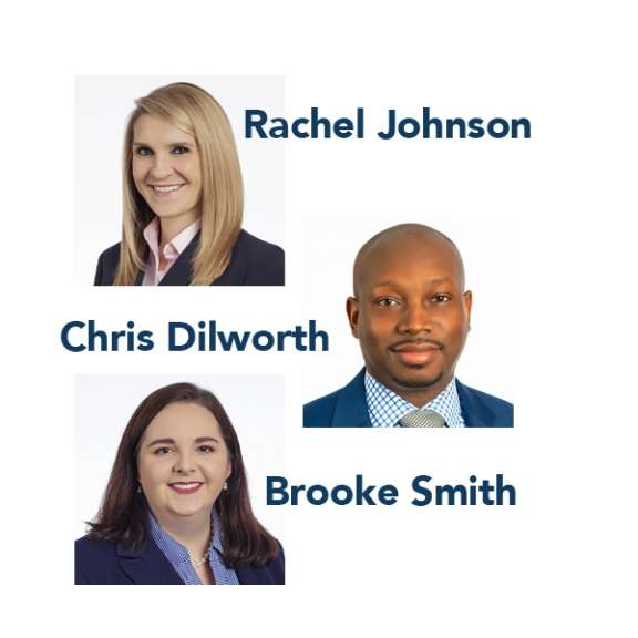 Photo compilation of Rachel Johnson (Health Care Law), Chris Dilworth (Real Estate Law), and Brooke Smith (Business Litigation) who are attorneys with Katz Korin Cunningham in Indianapolis.