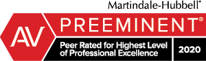 AV Preeminent Peer Rated 2020 logo